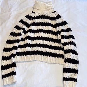 Striped Chunky Sweater Turtleneck